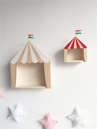 Small House Decoration NZ - Nordic Style Nursery Wooden Small House Kids Room Decoration Scandinavian Style Children Room Decor Nordic Decoration For Room J190521