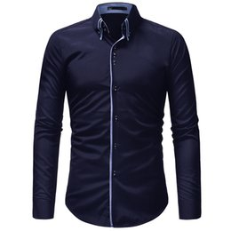 $enCountryForm.capitalKeyWord Australia - 2018 New Hot Sale Men Shirt Long Sleeves Solid Color Mens Dress Shirts Camisa Masculina Autumn Brand Casual Male Shirt Tops 3xl Y190506