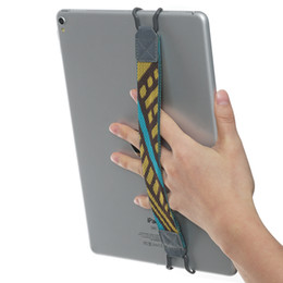 "security tablets UK - TFY Tablet Security Hand Strap Holder Compatible with iPad Pro 9.7""  10.5""  mini 4, iPad Air 2(NOT Include 12.9Inch Tablets) -Yellow Coffee"