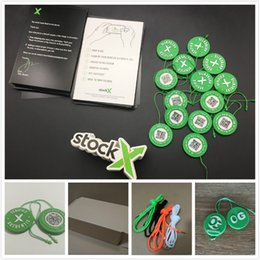 Tie kiTs online shopping - Shoes Accessories Zip Tie for Sneakers Stock X OG QR Code Sticker StockX Card Plastic Buckle for Sport Shoes Verified Authentic