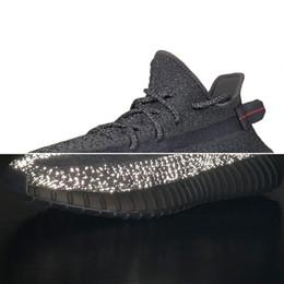 Опт Новые черные статические дефективные мужские беговые кроссовки кроссовки женские спортивные кроссовки Racer Kanye West Clay Zebra Cream Beluga 2 Bred Дизайнерская обувь
