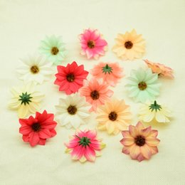 gerbera accessories Australia - 30pcs Silk sunflower fake daisy christmas decor for home wedding accessories plastic flowers diy gifts box Artificial flowers