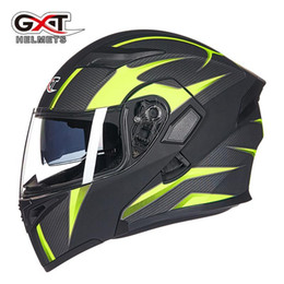 Discount gxt motorcycle helmets - GXT double mirror motorcycle helmet winter men and women double lens anti-fog helmet full-covered four seasons full