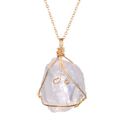 $enCountryForm.capitalKeyWord UK - Luxury Retro Women Designer Necklaces Famous Chakra Gemstone Necklaces Quartz Natural Stone Pendant Necklace for Gift Hot sale