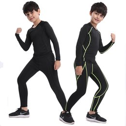 $enCountryForm.capitalKeyWord Australia - Winter warm Kids men compression running sets sports pants shirts survetement football youth thermal leggings with velvet tights