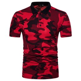 Wholesale camouflage polo shirts men for sale – custom Men s Tops Euro American Wind Code Short Sleeve Men Camouflage Polo Shirt