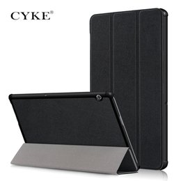 $enCountryForm.capitalKeyWord Australia - CYKE Tablet protect case For Huawei MediaPad T5 10 PU Leather Book Trifold case For Honor Tab 5 10.1 Flip Cover