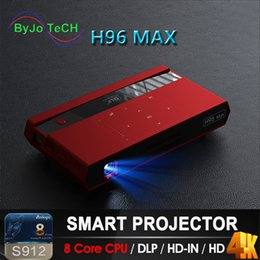 $enCountryForm.capitalKeyWord Australia - ByJoTeCH H96 MAX DLP Portable Projector LED S912 Android 8 Core CPU Full HD 4K 200 inch WIFI 5G Bluetooth speaker tripod gift