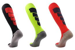 Towel socks online shopping - 2020 Soccer Stocking Thicken Towel Bottom child Football Sock Non Slip High Tube Sports Socks child Pure Cotton Long Hose Top Quality