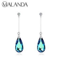 $enCountryForm.capitalKeyWord UK - Malanda Original Crystal From Swarovski Water Drop Earrings For Women Earrings Fashion Long Dangle Earrings Wedding Jewelry Gift J190718