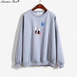 3ad5c78d650 Cute Cartoon Dog Balloon Print Men Hoodie Spring 2019 Autumn Women Clothes Sweatshirt  Plus Size Goth Tops Punk Gray Hoodies Y145
