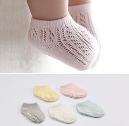 $enCountryForm.capitalKeyWord NZ - Summer baby lace ankler socks girls lace hollow knitted short socks toddler kids non-slip ship sock baby cotton breathable socks F8611