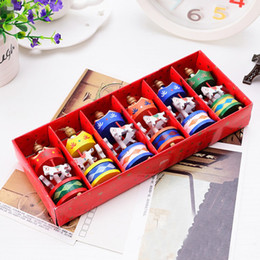 Toy red horse online shopping - New Design Set Merry Christmas Wood Carousel Horse Ornaments Children Gift Toys Pendant Home Xmas Decorate