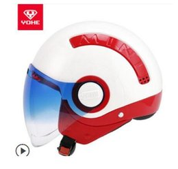 $enCountryForm.capitalKeyWord Australia - YOHE YH mini-A helmet electric motorcycle motorcycle men and women half helmet winter personality cool 64