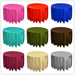 $enCountryForm.capitalKeyWord NZ - 215*215cm Hotel Tablecloth Solid Round Satin Table Cloth For Christmas Wedding Party Hotel Restaurant Banquet Decor from Nantong Jiangsu