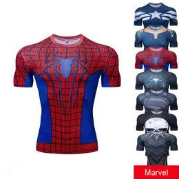 5ac655dba Marvel Movie Avengers Endgame Short Sleeve T Shirt Captain America super man  3d Print t-shirt Summer Cool Tshirt For Males 2425