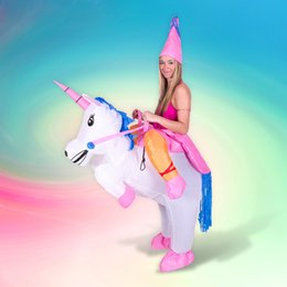 unicorn costume for men NZ - Inflatable Unicorn Costume Halloween Costumes for Women Men Kids Unisex deguisement Clothing Unicorn Cosplay Costume Party Dress