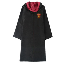 harry potter kids robe cloak UK - Theme Cosplay costume New Halloween party cape clothes Harry Potter Slytherin Hufflepuff Ravenclaw Cloak magic robe Kids Adult