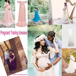 $enCountryForm.capitalKeyWord NZ - Maternity Dress Photography Props Maxi Dress Maternity Gown Pregnancy Off Shoulder Dress Pregnant Clothing For Photo Shoot Trailing dresses