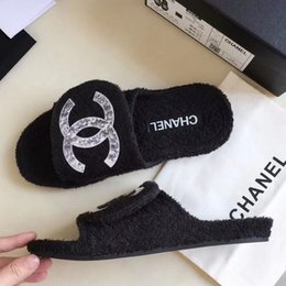 Flat slippers For ladies online shopping - With Box Lady Sandals Slippers High Quality Brand Sandals Flat shoe Designer Shoes Slide Casual shoes Flip Flops Size For Woman