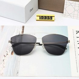 sunglasses screws NZ - Luxury Sunglasses Designer Sunglasses Fashion for Men Super-light No Screw Anti Pressure Glasses Driving UV400 Adumbral with Box and Logo