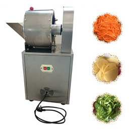 vegetables cutting machine Canada - 2020 Multifunction Commercial Vegetable Slicer Onion Slicing Machine Electric Vegetable Potatoes Cutter Carrots Cutting Machine 240A type