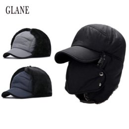 Unisex Winter Hiking Hunting Outdoor Bomber Hats Thicken Balaclava Cotton  Fur Earflap Thermal Russian Skull Mask Drop shipping 10d7972f8847