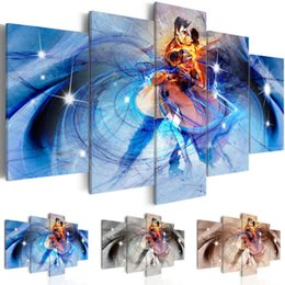 life size pictures Australia - Abstract Canvas Wall Decoration Watercolor Dancer Art Print 5 Panels HD Printed for Home Decor Room Wall Pictures,Choose Color And Size(No F