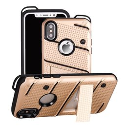 $enCountryForm.capitalKeyWord UK - For Iphone XS MAX XR 8 7 Plus 6 6s Phantom Series 2 in1 Hybrid Case for Galaxy Note 9 8 S10 S9 Defender Grid Net Holder Hard PC+TPU Cover
