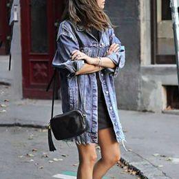 $enCountryForm.capitalKeyWord Australia - Autumn Winter Women Hole Denim Jacket 2019 Harajuku boyfriend Wind Jean Jacket Loose Long Sleeve Female Coats Large Size Female