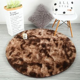 $enCountryForm.capitalKeyWord Australia - Round carpet bedroom bedside mat Nordic home thickening carpet living room coffee table blanket long hair washable bedroom rug