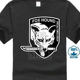high quality custom t shirts Australia - T Shirt Men Wholesale Discount Wholesale Discount Hound Special Force Group Metal Gear Solid Men's T Shirt High Quality Custom
