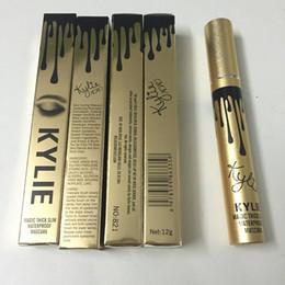 No box NEUE Verfassung kylie Mascara Eyeliner # 01 # 02 Flüssigkeit Eyeliner gute Qualität Freies Verschiffen im Angebot