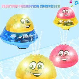 Automatic Electric Induction Sprinkler ball Toys Kids baby Bathroom Play Water Toys Toddler Bath Floating Water Jet Ball Amphibious MusicToy on Sale