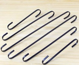 $enCountryForm.capitalKeyWord Australia - S Shaped Hooks Stainless Steel Black gold silver S Type Hangers Hooks For Towels Pots Pans Bags kitchen accessories SN3540