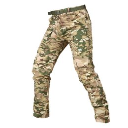 $enCountryForm.capitalKeyWord Australia - Camouflage Army Detachable Tactical Pants Men Summer Quick Dry Military Pants Knee Length Lightweight Removable Trousers S-3xl Y190509