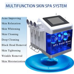 Spa head online shopping - hydrafacial machines dermabrasion Skin Whitening Deep Cleaning Black Head Removal water peel facial hydra facial machines SPA and home use
