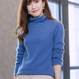 4908f59dae9 Spring Women Sweater 100% Cashmere Knitting Pullovers Hot Sale Turtleneck  New Fashion 11Color Sweaters Woman Standard Girl Tops
