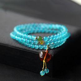 Опт Естественный тип льда Tianhe камень кристалл круглый шарик мульти-кольцо браслет DIY кулон