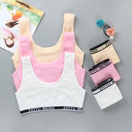 teenagers girl tops NZ - Teenagers Girls Lingerie Cotton Underwear Sets Kids Young Girls Training Bras Crop Top Girls 8-14 years