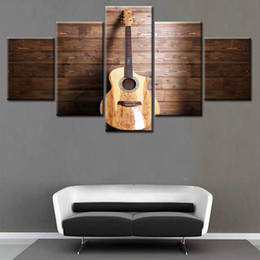$enCountryForm.capitalKeyWord Australia - HD Print Poster Painting 5 Pieces Guitar Wall Art Picture For Music Room Home Decoration Unique Gift Unframed