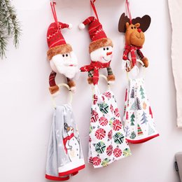christmas clothes NZ - Creative Christmas Clothes Napkin Circle Home Pendant Towel Ring Christmas Cake Towel Gift Decor Kitchen Accessories