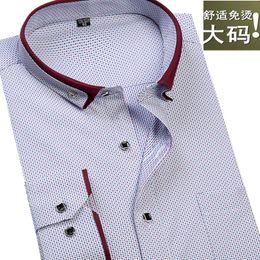 Dotted Shirts Australia - 2017 new arrival Autumn fashion cotton polka dot print long-sleeve extra large male formal shirt hihg qulaity plus size M-9XL