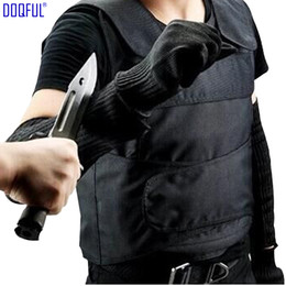 Wholesale work arms for sale - Group buy High Quality Stab Proof Vest Anti Cut Work Gloves Stabproof Arm Sleeve Outdoor Safety Self Defense Tungsten Steel Iiner Plate Tactical