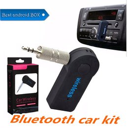 $enCountryForm.capitalKeyWord Australia - Universal 3.5mm Bluetooth Car Kit A2DP Wireless FM Transmitter AUX Audio Music Receiver Adapter Handsfree with Mic For Phone MP3