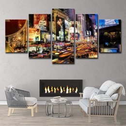 $enCountryForm.capitalKeyWord Australia - HD Printed 5pcs New York City Painting on Canvas Room Decoration Print Poster Picture Canvas Free Shipping