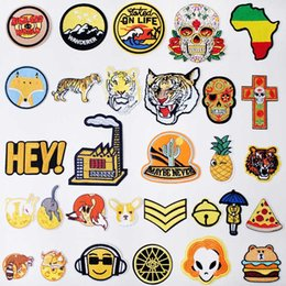 $enCountryForm.capitalKeyWord Australia - Yellow Khaki Iron On Patches Badges for Sew Seam Tailoring Clothes Suits of Coat Jacket Trousers T-shirt Pants Ornament Apparel