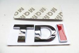 Vw Golf Rear Badges Australia - Car styling TDI Badge Emblem Decal car Sticker for VW Golf JETTA PASSAT MK4 MK5 MK6 skoda seat car accessories car-styling