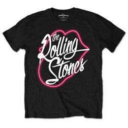 "Silver Rolled Chain Australia - Small Black The Rolling Stones Men's Neon Lips T-shirt. - Mens TshirtALICE IN CHAINS ""TRI CELL"" BLACK T-SHIRT NE Men Women Unisex Fashion"
