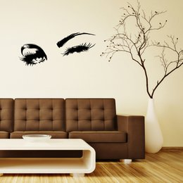 eyes decal wall stickers Australia - Wall Decal Beautiful Charming eyes Lashes Wink Decor Wall Art Mural Vinyl Decal Stickers Interior Design Bedroom Sticker
